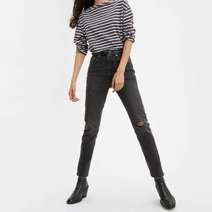 NWT Levi's Premium 501 SKINNY WOMEN'S JEANS Black - 23